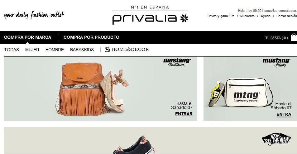 21 tiendas online con ropa barata de marca que bajada de for Similar a privalia