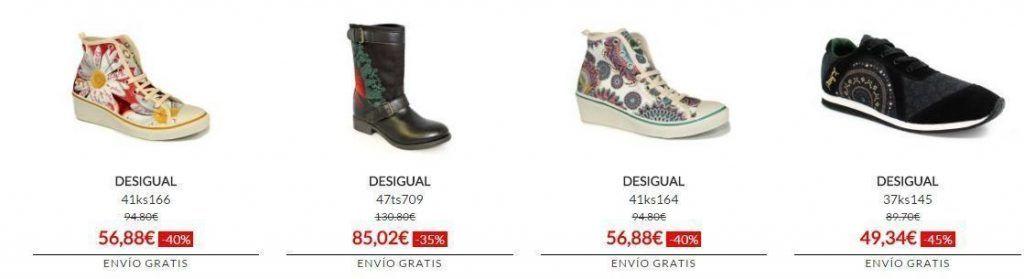 botas, zapatillas, calzado barato desigual