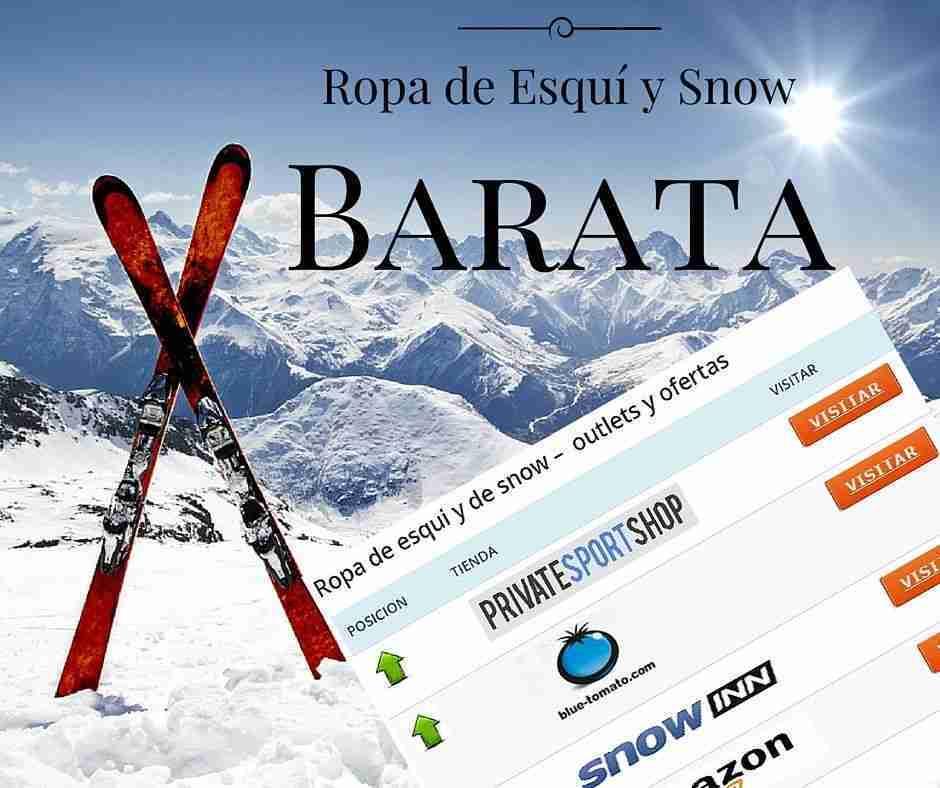 ropa de esqui y de snow barata, las mejores tiendas online