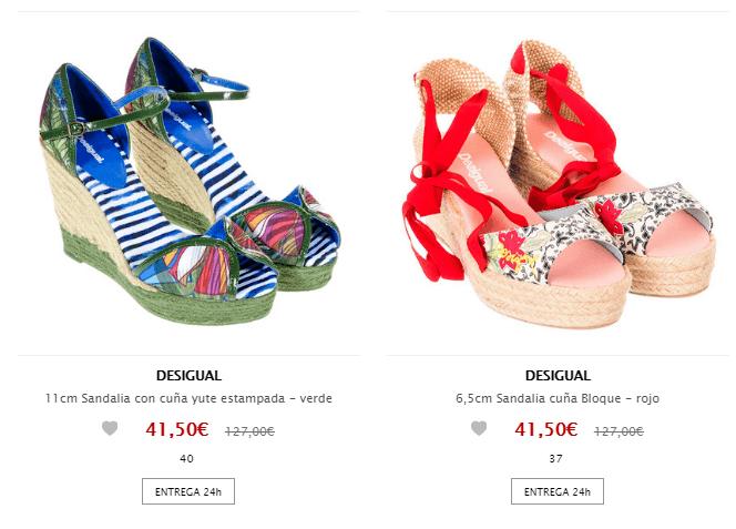 zapatos baratos desigual