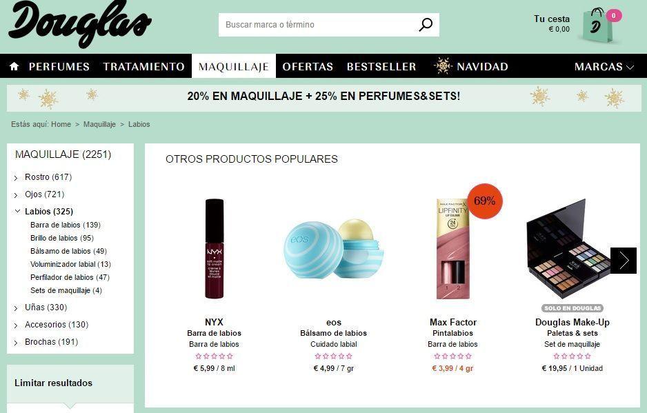 maquillajes en oferta