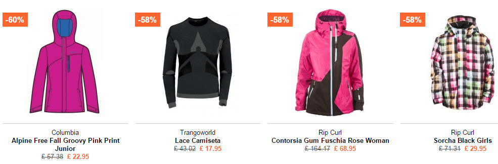 ropa de esqui de mujer barata