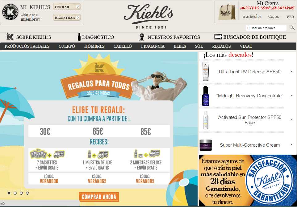 cremas baratas online