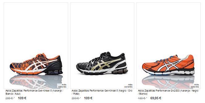 zapatillas running asics baratas