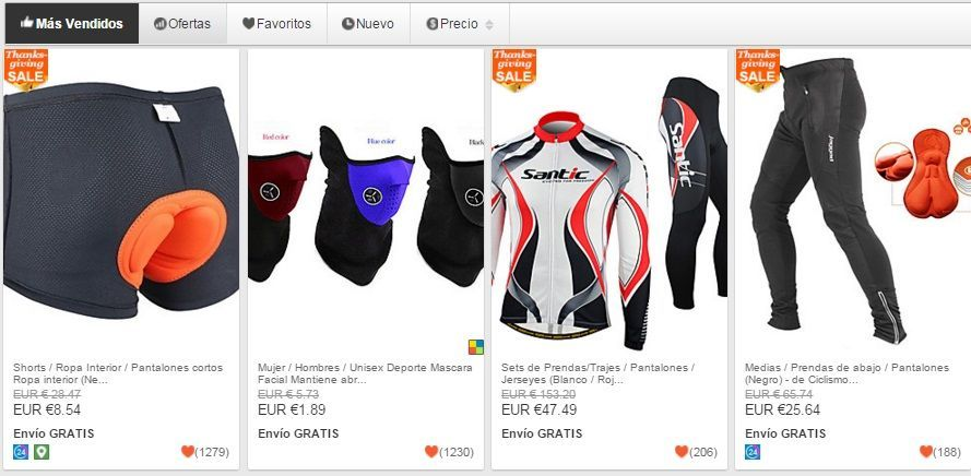 ropa de deporte china