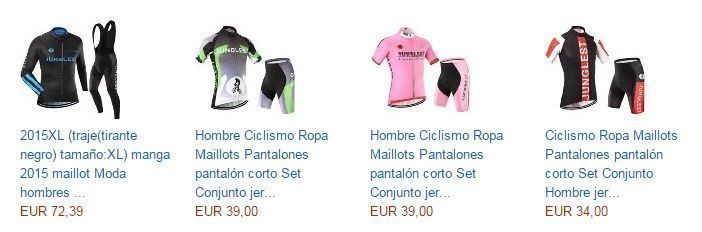 ropa de ciclista en amazon barata
