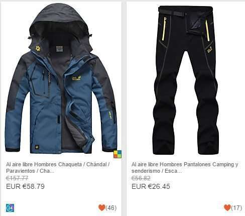 ropa de senderismo y montaña para hombre y mujer