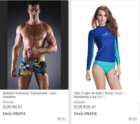 bañador para hombre y bañador para mujer barato