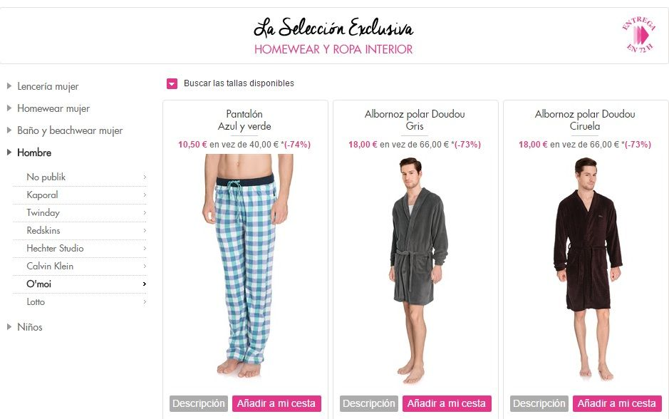 pijamas de hombre baratos online