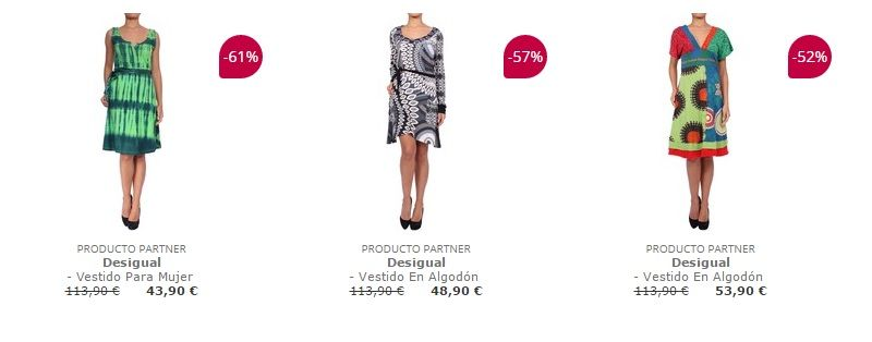 vestido desigual barato
