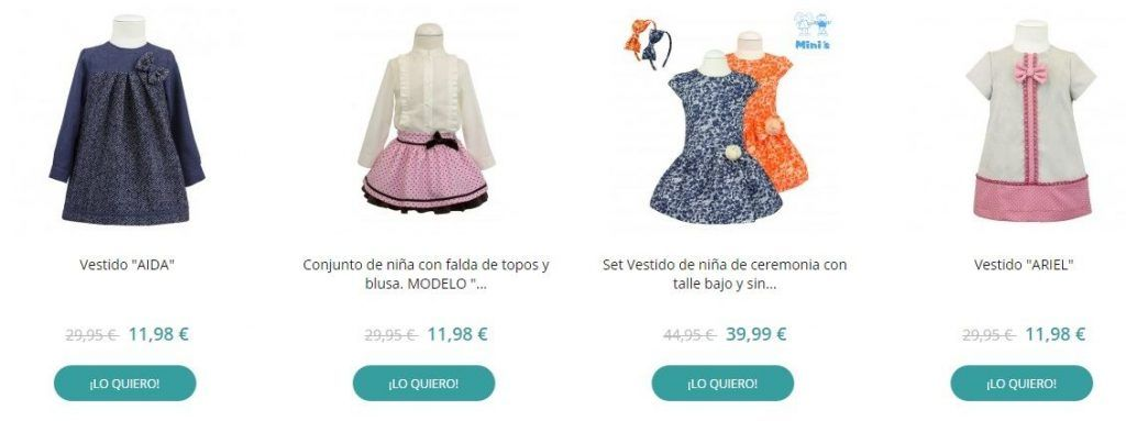 ropa infantil online muy barata
