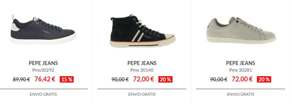 calzado barato de pepe jeans
