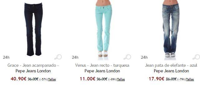 vaqueros de mujer pepe jeans baratos