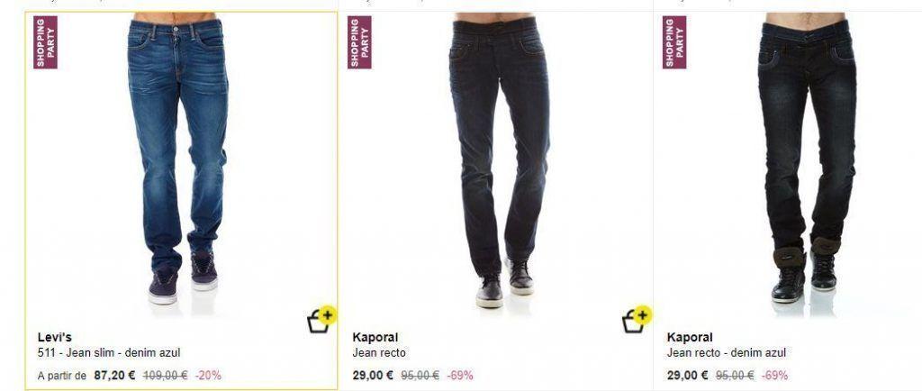 jeans baratos hombre