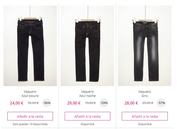 pantalones vaqueros baratos niño