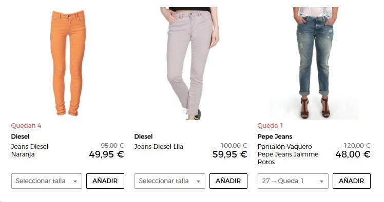 pantalones vaqueros mujer baratos
