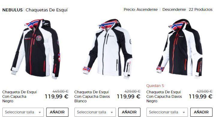 chaquetas de esqui baratas