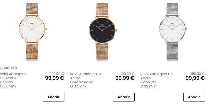 relojes acero baratos