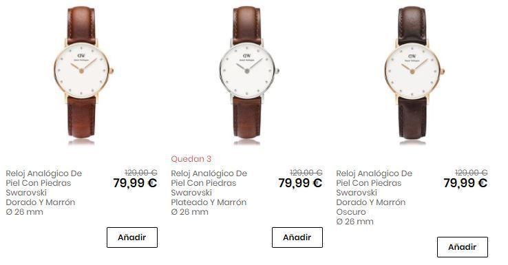 relojes de piel baratos