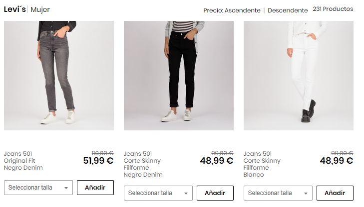 7550e111009bf Las mejores ofertas de Levis® online🥇 Compra levis por sólo 10€