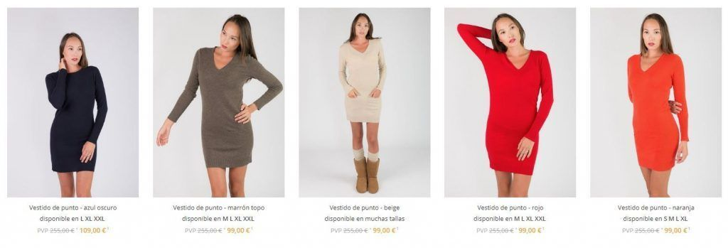 vestidos cashemire baratos