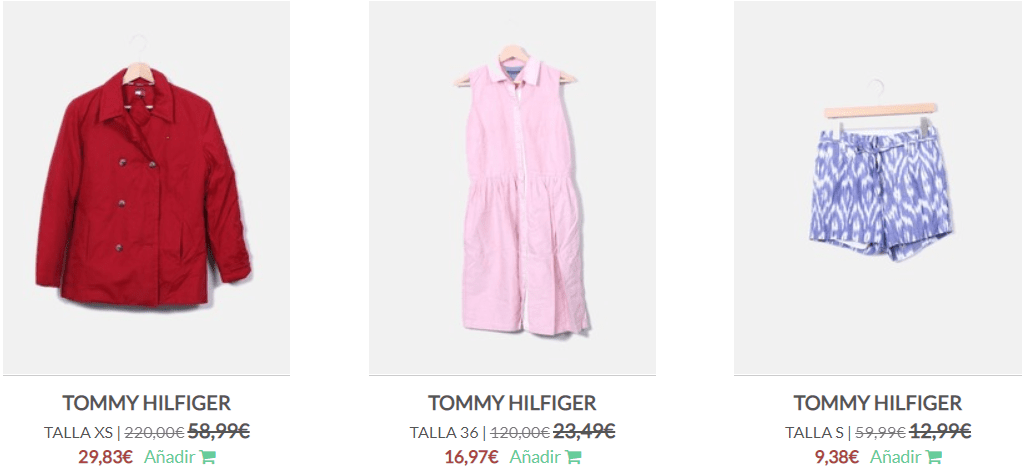 Tommy Hilfiger segunda mano