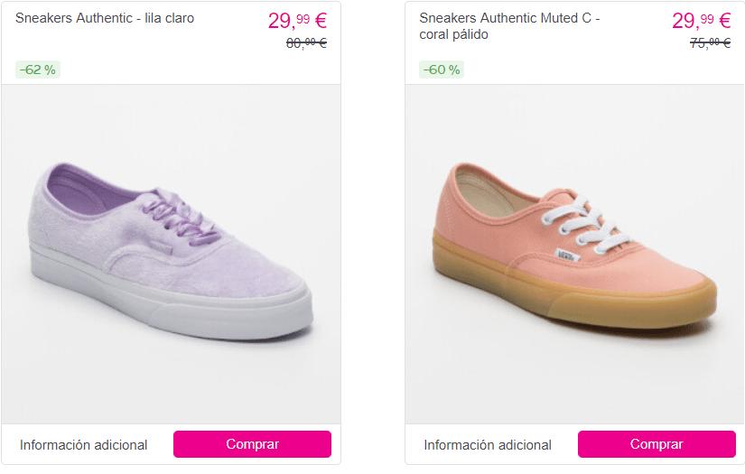 Zapatillas vans 60 %