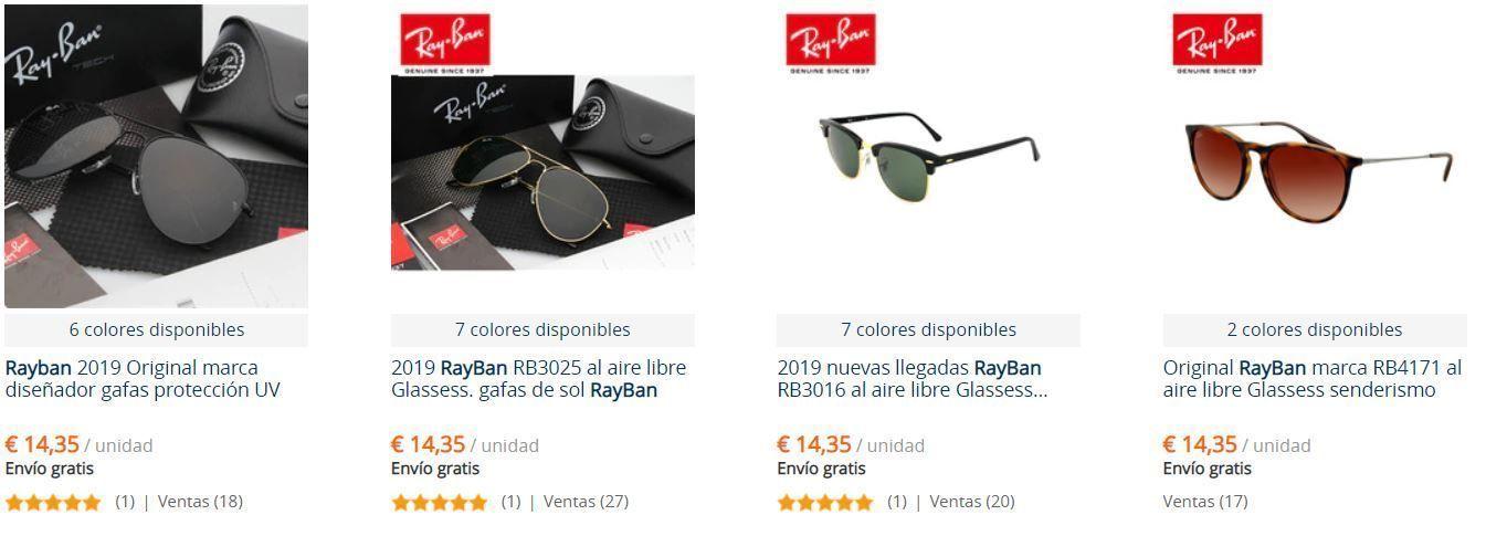 Gafas RayBan 20 euros