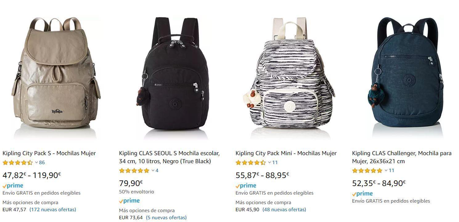 0706e234b Os he puesto una selección de las que he encontrado a mejor precio, como  podéis observar la típica mochila Kipling negra está a un buen precio,  disfrutad de ...