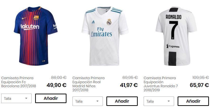 Camisetas futbol privalia