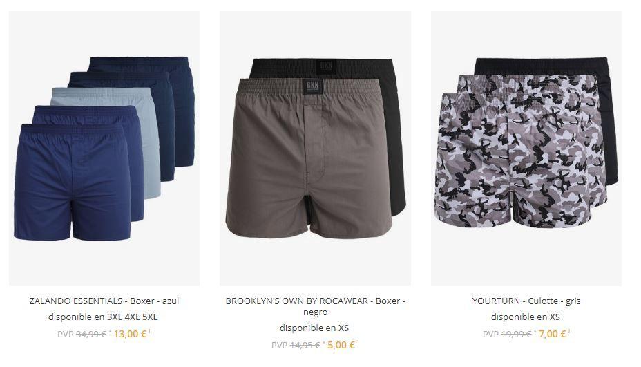 ofertas en ropa interior masculna