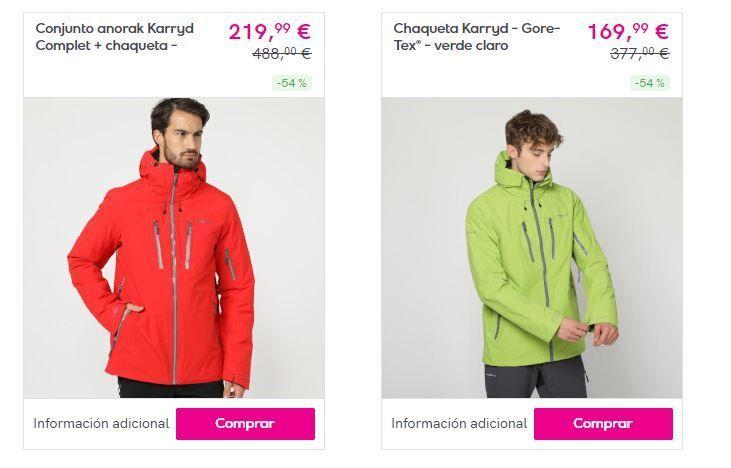 ropa para esquiar con descuentos
