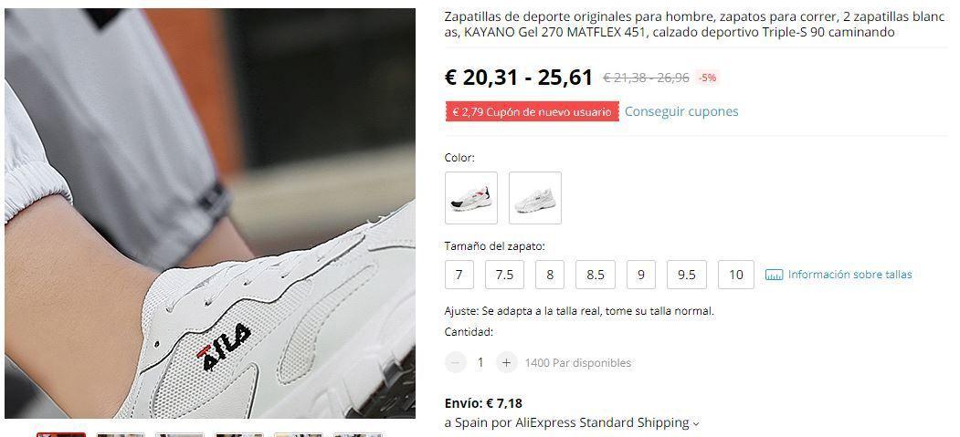 zapatillas de imitación fila