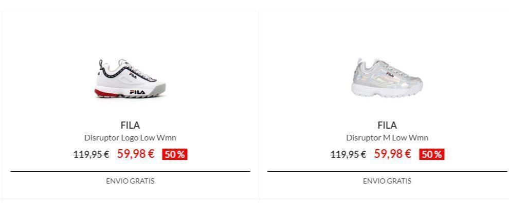 zapatillas fila disruptor baratas